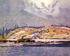 CASSON, A.J. - Canadian artist (1898-1992): -- 'The Channel at Britt'.