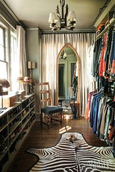 Vintage inspired closet with an eclectic spin-love!
