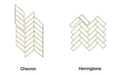 Spot the difference: chevron vs. herringbone flooring via Remodelista