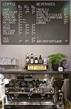 Menu board. Love the typography