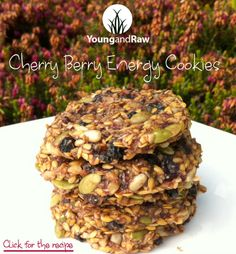 Cherry Berry Energy Cookies (raw + vegan)