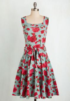 Guest of Honor Dress in Rose Garden. You'll be flooded with invitations when exhibiting this finely tailored frock by California-based brand Effie's Heart!  #modcloth
