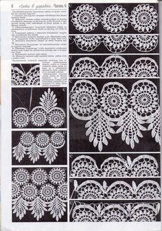 """Photo from album """"Дуплет on Yandex. Crochet Dollies, Crochet Lace Edging, Crochet Buttons, Crochet Shawl, Irish Crochet, Crochet Stitches, Lace Patterns, Crochet Patterns, Ballons Aufblasen"""