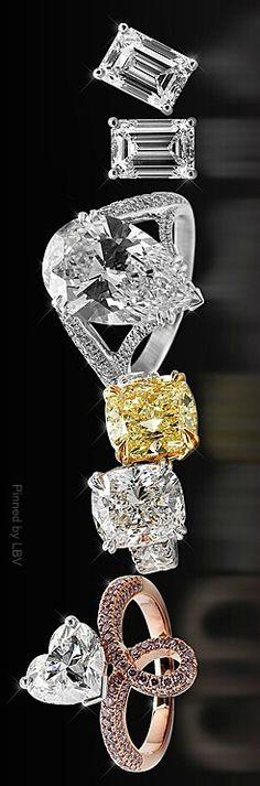 White & Yellow Diamonds/Rings