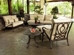 rod iron patio furniture with cushions