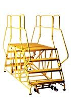 Welded Steel Work Platforms 48, 60, 72 and 84 inch Platforms This welded steel platform provides dual entry access in a wide range of platform sizes. DWP work platforms are desirable in work areas that require quick, convenient, and efficient access to required work levels.
