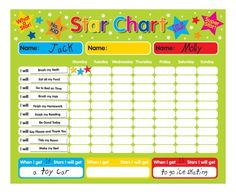 ? Chart for kids and if they do what is asked of them such as brush teeth, make bed etc. And receive so many stars they get a prize