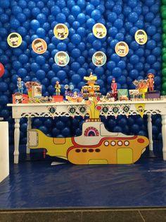 Pin by Mary Jane Forsyth on shhh! Beatles Birthday Party, Baby Girl Birthday, Birthday Party Favors, Birthday Parties, Rockstar Birthday, 70th Birthday, Birthday Ideas, Festa Yellow Submarine, Festa Rock Roll