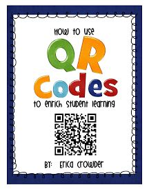 I don't know if you are familiar with QR (quick response) codes, but I am becoming a fan of them.  They are so easy to use and kinders lov...