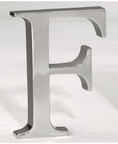 Croix Trading Kindwer Silver Aluminum Letter F Contemporary and Modern Diy Letters, Large Letters, Home Office Lighting, Outdoor Lounge Furniture, Unisex Baby Clothes, Furniture For Small Spaces, Baby Shop, Modern Contemporary, Baby Shower Gifts