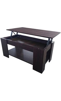Topeakmart Modern Living Room Lift Top Coffee Table with Storage & Undershelf Espresso Best Price