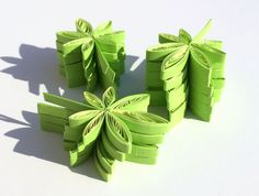 Hemp Maple Leaves Leaf Green Fall Autumn Ornaments Party Confetti Dinner Ornaments Decorations Gift Fillers Paper Quilling Art