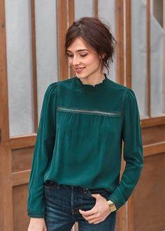 Me enamore del color y la blusa Chemise Victorienne, Chemisiers, Mode Femme,  Chemisier 963c27718a3
