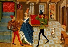 1450 c. was a Flemish composer, choir director, and possibly wind instrument player of the Renaissance. Medieval Life, Medieval Fashion, Medieval Art, Medieval Tapestry, 15th Century Fashion, 15th Century Clothing, Medieval Costume, Medieval Dress, Medieval Manuscript