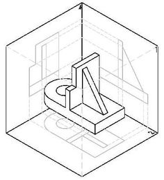 2D Drawing Isometric View and Orthographic View