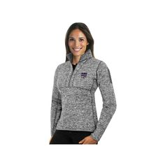 Women's Antigua Sacramento Kings Fortune Pullover, Size: Medium, Light Grey