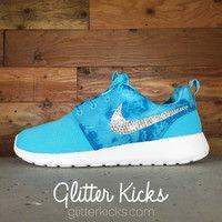 Women s Nike Juvenate Running Shoes By Glitter Kicks - Customized With  Swarovski Crystal Rhinestones - Tiffany 524ab7428172