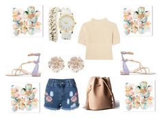"""""""Flower smash"""" by gamgul ❤ liked on Polyvore featuring Totême, René Caovilla, Charlotte Russe and River Island"""