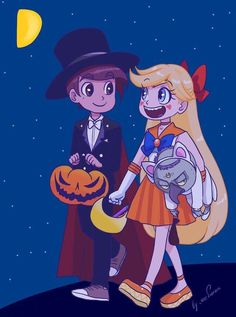 Self Appointed Starco and Covy Captain Sailor Moon Stars, Halloween 2017, Happy Halloween, Star E Marco, Fanarts Anime, Cute Cartoon Wallpapers, Star Butterfly, Star Wars, Force Of Evil