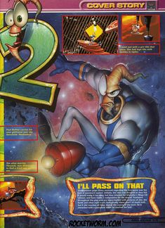 Art by - Mike Koelsch Earthworm Jim Collected Images - Rocket Worm!