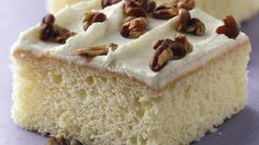 Serving a crowd? Try a white chocolate cake slathered with a dreamy white chocolate frosting.