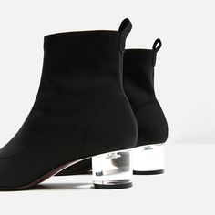 Image 1 of ANKLE BOOTS WITH METHACRYLATE HEEL from Zara