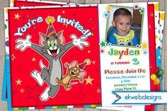 Tom and Jerry Birthday Invitations