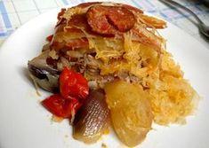 Káposztás tarja Lasagna, French Toast, Bacon, Paleo, Pork, Food And Drink, Favorite Recipes, Meals, Chicken