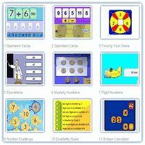 Math Sites for practicing addition, subtraction, division, place value, decimals, integers, and operations.