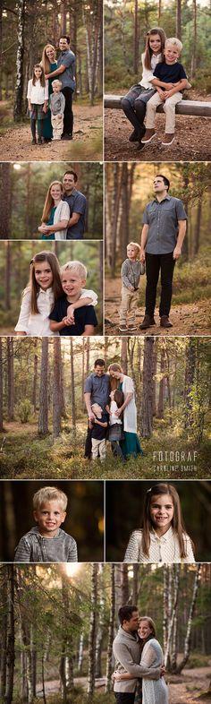 Familiefotografering i Horten.  #Family #familyportraits #familiebilder #barn #Skog #forrest #høst