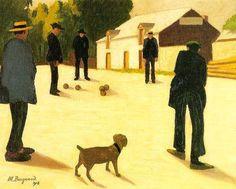 Les joueurs de boules, 1918, by Marius Borgeaud
