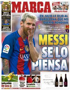 Jornal: Messi disse ao Barça em julho que não quer renovar seu contrato #globoesporte