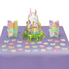 Amscan Egg-Stra Special Easter Bunnies and Eggs Table Decorating Kit Piece), Multicolor, X * Continue to the product at the image link. (This is an affiliate link) Easter Party, Easter Table, Fluffy Bunny, Easter Traditions, Party Packs, Birthday Party Themes, Easter Bunny, Kit, Table Decorations