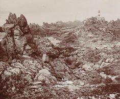 Ouessant - Le phare du Créach et le rocher du lapin en 1904