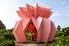 taking center stage within the garden of the georgian mansion, the sculptural pavilion is sure to impress.