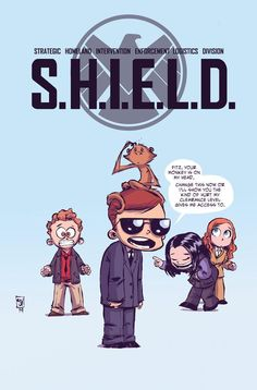 Agents of S.H.I.E.L.D. #1 variant cover by Skottie Young #skottieyoung #Coulsen