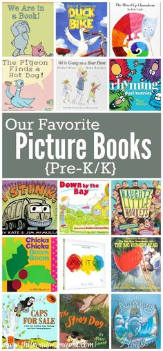 Our Favorite Picture Books for Pre-K through K - This Reading Mama(Favorite List For Teachers) Kindergarten Books, Preschool Books, Book Activities, Sequencing Activities, Toddler Activities, Preschool Bulletin, Vocabulary Activities, Preschool Learning, Therapy Activities