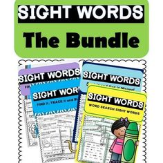 Sight Word Bundle, #preschoolsightwords, #sightwords Preschool Curriculum, Preschool Learning, Homeschool, Teaching, Preschool Worksheets, Everything Preschool, Preschool Sight Words, Learning Goals, School Closures