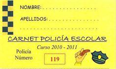 "Policía Local de Castalla. Grupo de Seguridad Vial: Carnet ""POLICÍA ESCOLAR"" . . . ."