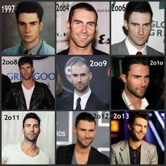 Adam then to now ♥ for sure is like fine wine... Better with age!  LOL