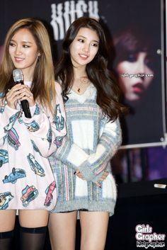 MissA Jia and Suzy Suzy Bae Fashion, Pop Fashion, South Korean Girls, Korean Girl Groups, Korean Girl Band, Bae Suzy, Girl Bands, Korean Model, Girl Costumes