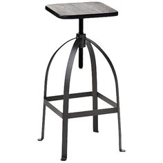 You'll love the chic, casual look of this adjustable barstool with a natural bamboo seat.