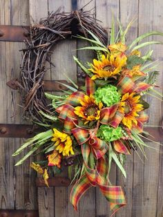 Fall Grapevine Wreath by WilliamsFloral on Etsy, $65.00: