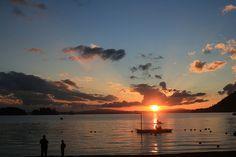 Puesta de sol en Lago Calafquen