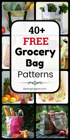 Bag Patterns to sew. Free Grocery and Shopping Bag Patterns, diy projects and sewing tutorials. Sew reusable fabric market bags and totes. Styles include large, insulated, lined and foldable bags. Instructions for how to make a grocery or shopping bag. Bag Pattern Free, Bag Patterns To Sew, Tote Pattern, Sewing Patterns Free, Free Sewing, Diy Sewing Projects, Sewing Tutorials, Reusable Shopping Bags, Market Bag