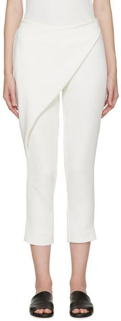 Dion Lee White Folded Sail Trousers