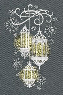Lanterns in the Snow | Urban Threads: Unique and Awesome Embroidery Designs