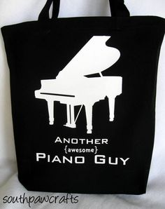 Piano Guy or Gal Music Tote Bag. $15.00, via Etsy. Got to have it