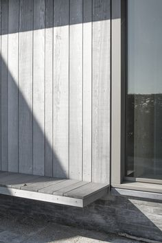 | EXTERIOR + DETAIL | vertical wood siding, naturally silvered