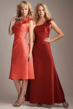 89cff3901c9 Beautiful colors for an October wedding. One Shoulder Bridesmaid Dresses